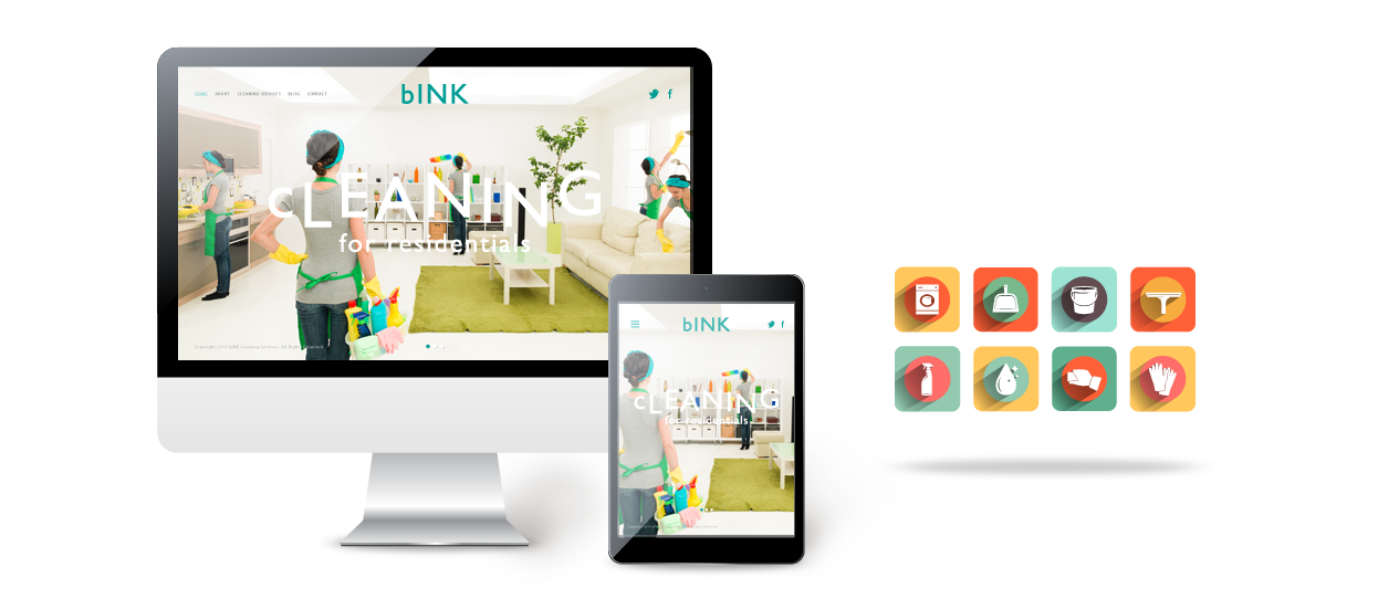 company web design cleaning bink
