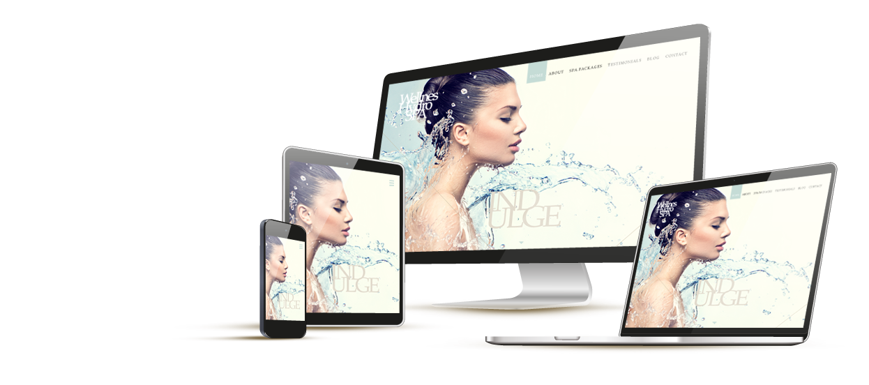 responsive web design single page scroll wellness hydro spa