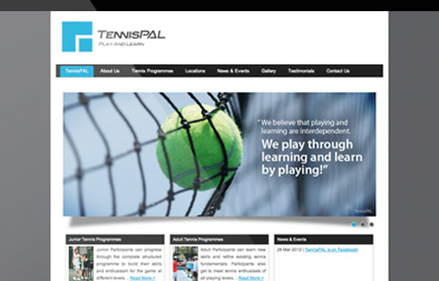 Small Business Website Design for TennisPAL