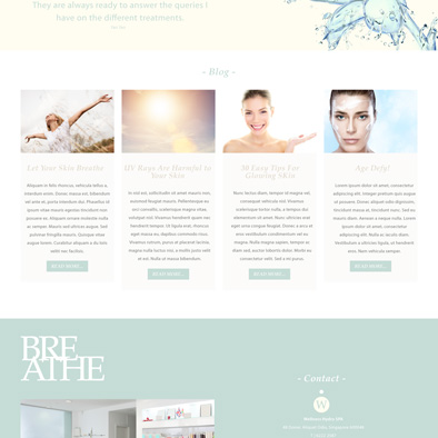 wellness hydro spa website blog