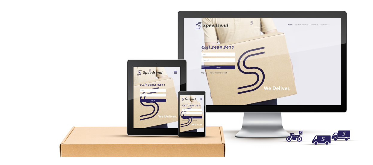 company website design speedsend courier singapore