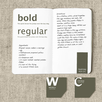 cook visual identity corporate font label