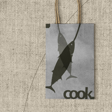cook visual identity paper bag