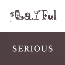 logo personality playful serious