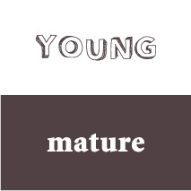 logo personality young mature