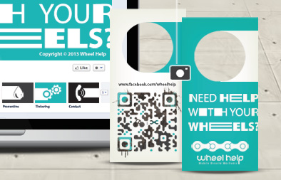 Social Media Marketing and Name Card Design for Wheel Help