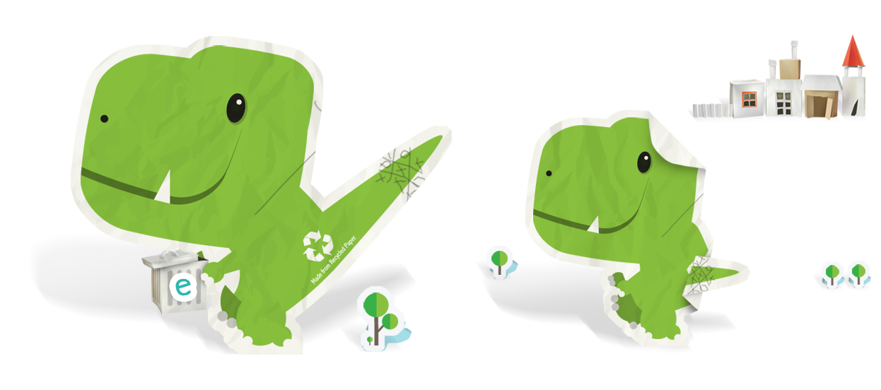 brand mascot design illustration dinosaur scrap paper