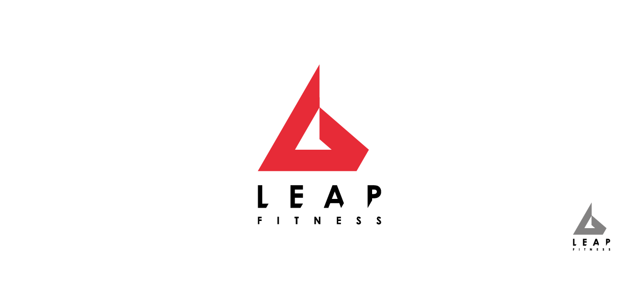 fitness logo design leap fitness