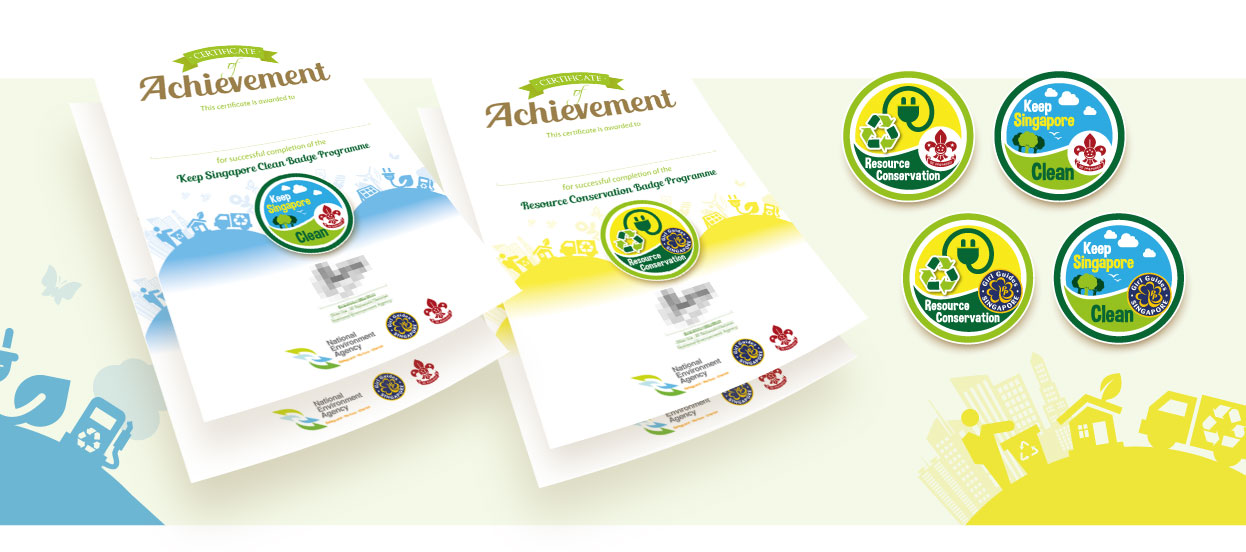 Series Of Certificate Designs For National Environment