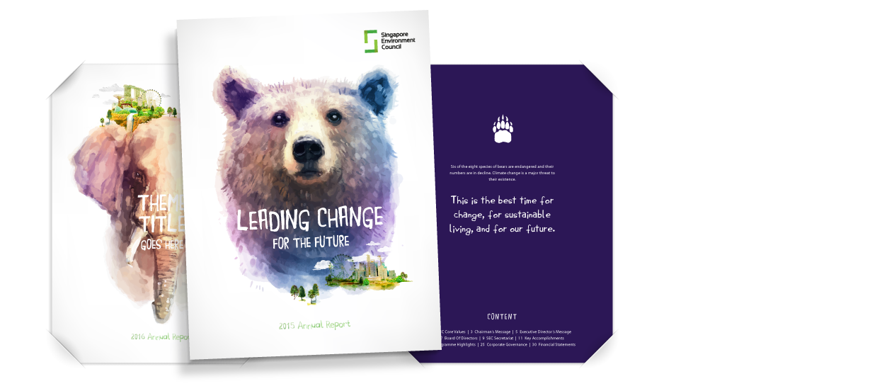 annual report 2015 design proposal singapore environment council