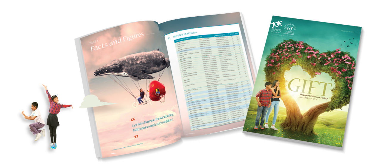 annual report 2016 design singapore childrens society