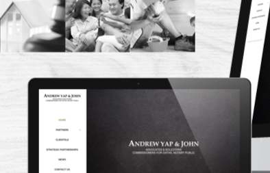 Law Firm Website Design for Andrew Yap and John Legal