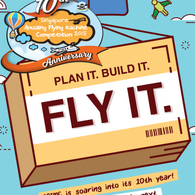 dso national laboratories singapore amazing flying machine competition 2018 brochure cover design