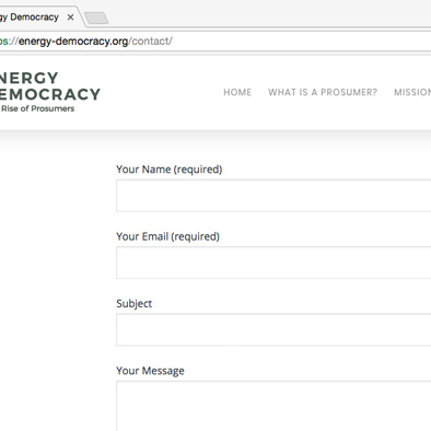 energy democracy website contact