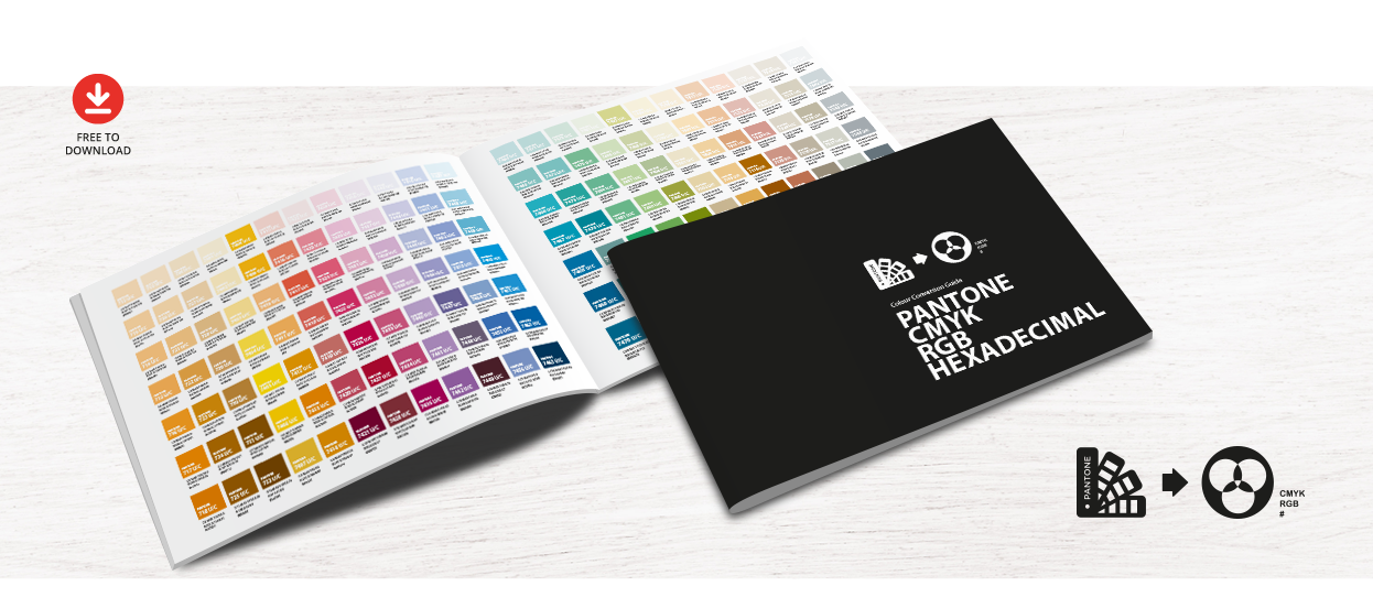 free colour conversion guide pantone cmyk rgb hexadecimal