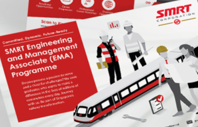 Engineering and Management Associate (EMA) Programme Flyer Design for SMRT Corporation