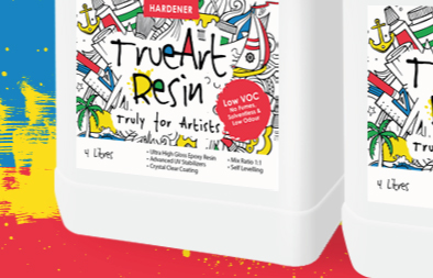 Product Logo and Label Design for TrueArt Resin