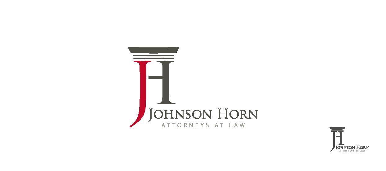 attorneys logo design law slogan johnson horn