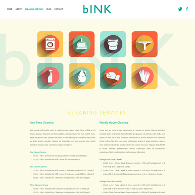 bink website cleaning services