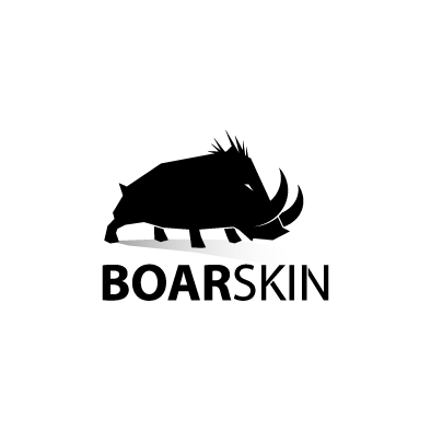 boarskin logo boar black