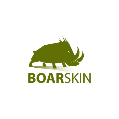 boarskin logo boar green