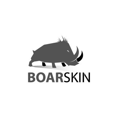 boarskin logo boar greyscale