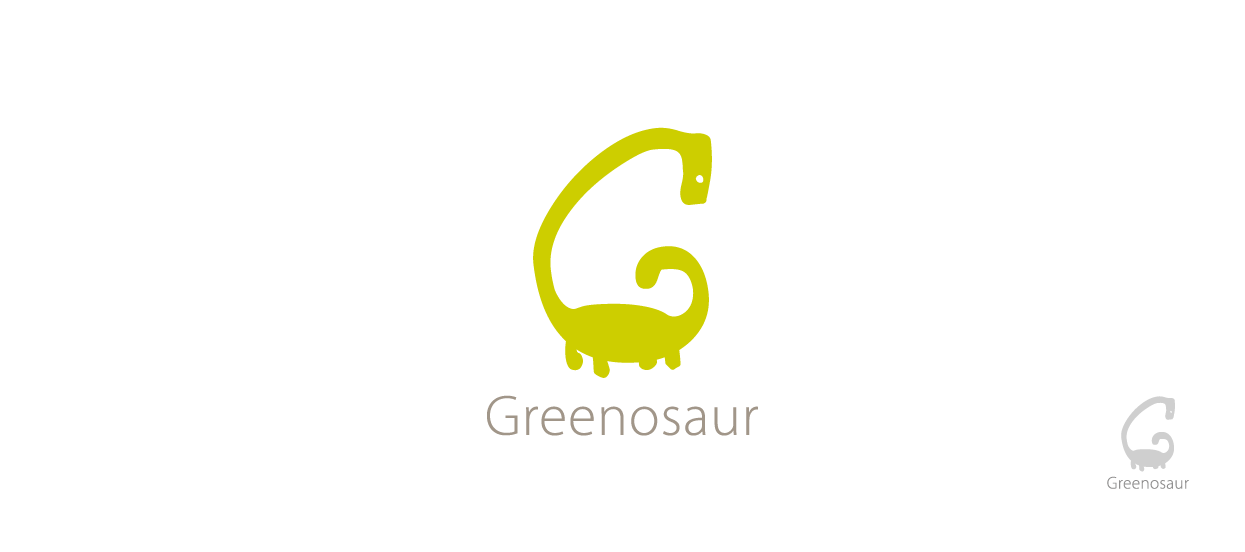 company brand design eco greenosaur