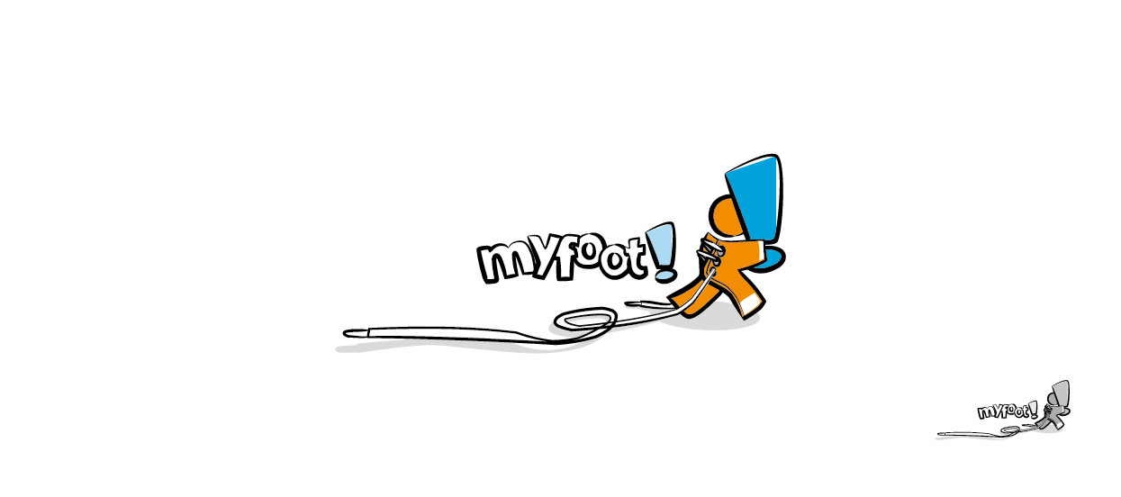 corporate brandmark design footwear myfoot