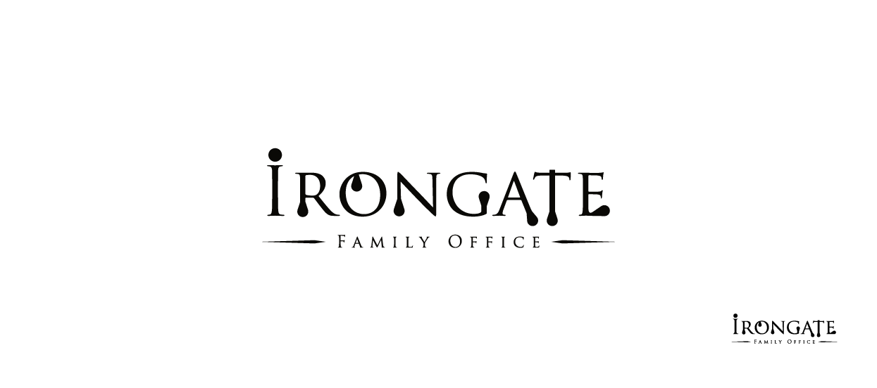 corporate logo design family office irongate