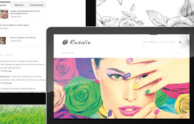 Corporate Web Design for Rosalie Singapore