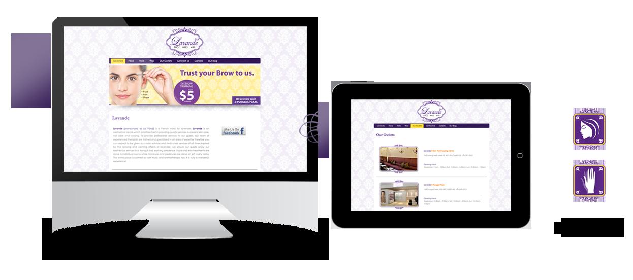 corporate website design beauty lavande