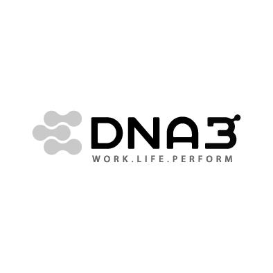 dna3 logo atom molecule medical greyscale