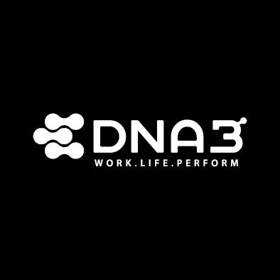 dna3 logo atom molecule medical white