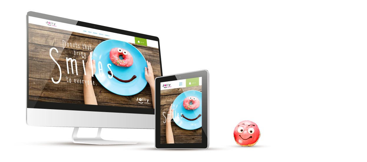 ecommerce web design jolly donuts