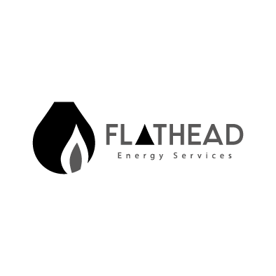 flathead energy services logo oil fire burn greyscale