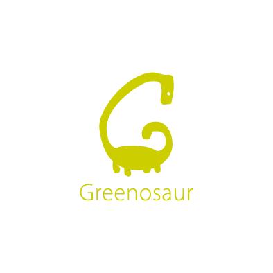 greenosaur logo g dinosaur green