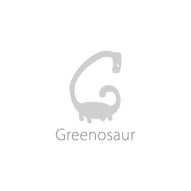 greenosaur logo g dinosaur greyscale