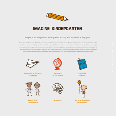imagine kindergarten website about us