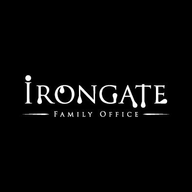 irongate logo wordmark white