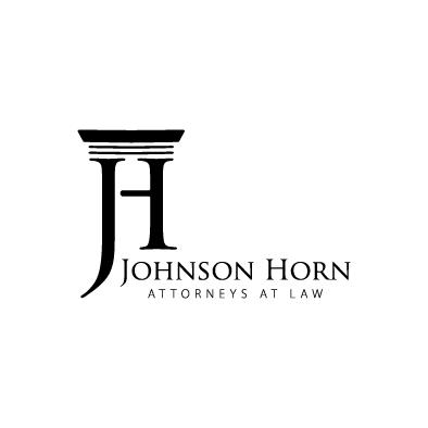 johnson horn logo column j h law black