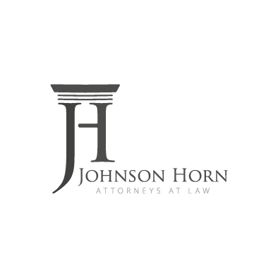 johnson horn logo column j h law greyscale