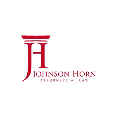 johnson horn logo column j h law red