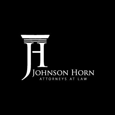 johnson horn logo column j h law white
