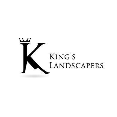 kings landscapers logo k crown mountain black