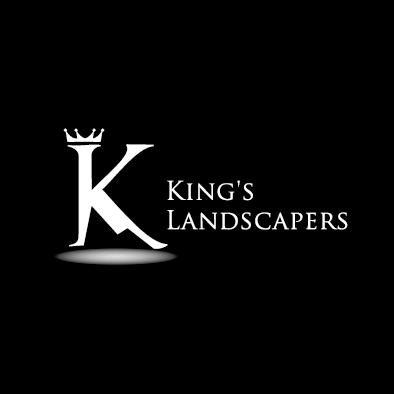kings landscapers logo k crown mountain white