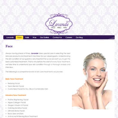 lavande website face