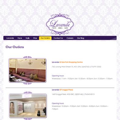 lavande website outlets
