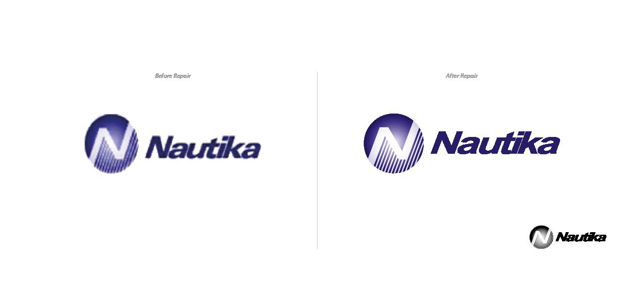 logo repair design marine nautika