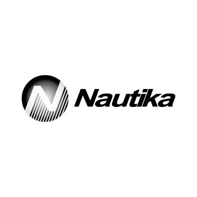 nautika logo maritime offshore n circle greyscale