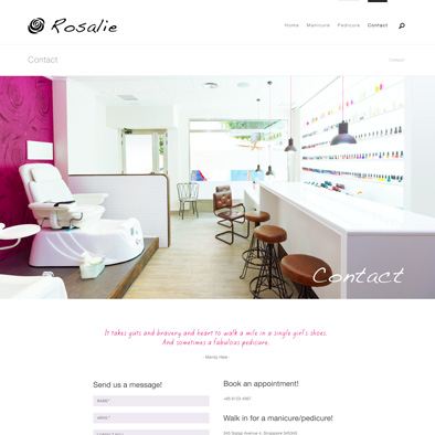 rosalie website contact
